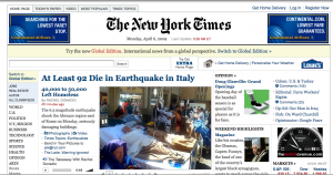 nyt homepage 300x158 Digital Content   The Medium is NOT the Message