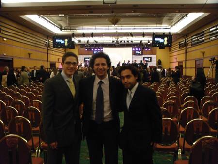 Federico Ortego, Alejandro Gomez and Carlos Pardo after the presentation