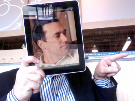 DJ iPad picture Our iPad Has a New York Attitude