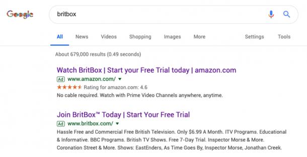 britbox search