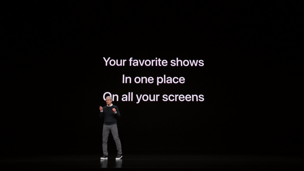 Tim Cook at the Apple TV Plus event